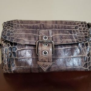 Dooney and Burke Genuine Brown Crocodile Leather B